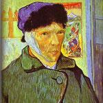 Autoritratto con orecchio fasciato - 1889 - Olio su tela