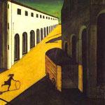 Mistero e malinconia di una strada - 1914 - Olio su tela