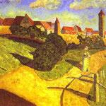 Vecchia torre II - 1902 - Olio su tela