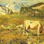 Pascoli in primavera - 1896