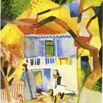Cortile di casa di campagna a St. Germain