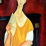 Femme à l'éventail, 1919