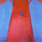 Piet Mondrian - Il Mulino rosso - Olio su tela