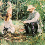 Eugene Manet and his Daughter Julie in the Garden, 1883