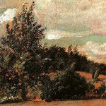Landscape. Wind. 1907. Oil on cardboard, 20.5x30.5 cm. The Russian Museum, St. Petersburg, Russia.