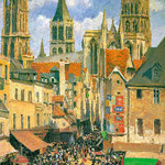 The Old Market at Rouen, 1898