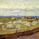 La Crau with Peach Trees in Bloom, 1889