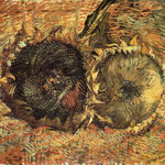 Still Life with Two Sunflowers, 1887