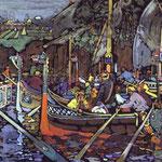 Il canto sul Volga - 1906 - Tempera su cartone
