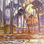 Piet Mondrian - Boschi vicino Oele - 1908 - Olio su tela