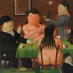 Fernando Botero - Giocatori di carte (1989)