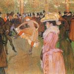 La formazione della nuove ragazze (Moulin Rouge) - 1889/1890 - Olio su tela