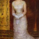 Ritratto di Jeanne Samary Attrice - 1878 - Olio su tela