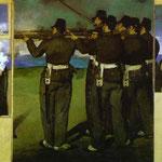 Edouard Manet - L'esecuzione dell'imperatore Massimiliano (quattro dettagli) - 1867 - Olio su tela