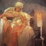 Donna con candela accesa 1933