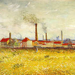 Factories at Asnieres, Seen from the Quai de Clichy, 1887