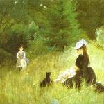 Nell'erba - 1874 - Pastello su carta