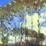 Claude Monet - Pioppi sulla riva del fiume Epte - 1890 - Olio su tela