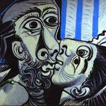 Il Bacio - 1969 - Olio su tela