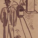Uomo e tram 1905