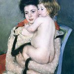 Reine Lefebvre Holding a Nude Baby