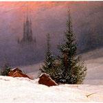 Paesaggio invernale con chiesa