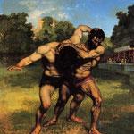 I lottatori -1852