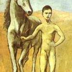 Ragazzo con cavallo - 1906 - Olio