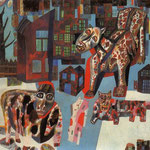 Animals. 1925-26. Oil on cardboard, 36x44 cm. The Russian Museum, St. Petersburg, Russia.