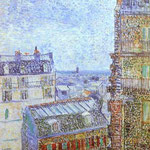 Parigi vista dalla camera di Vincent in Rue Lepic - 1887 - Olio su tela