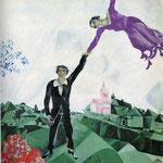 La passeggiata - 1917/18 - Olio su tela