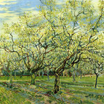 Orchard with Blossoming Plum Trees, 1888