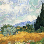 Wheatfield with Cypress, 1889