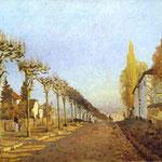 Strada di Louveciennes - 1873 - Olio su tela