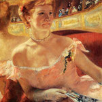 Woman With A Pearl Necklace In A Loge, 1879