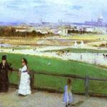 Panorama di Parigi dal Trocadero - 1872 - Olio su tela