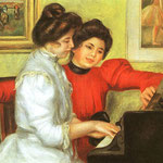 Yvonne and Christine Lerolle Playing the Piano, 1897