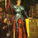 Giovanna d'Arco all'incoronazione Carlo VII - 1854