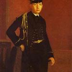 Ritratto di Achille De Gas con l'uniforme di un cadetto - 1856/1857 - Olio su tela