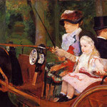 Woman and Child Driving, 1881