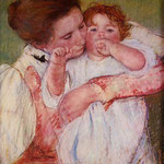 Little Ann Sucking Her Finger, Embraced by Her Mother