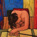 Fanciulla addormentata nello studio - 1959
