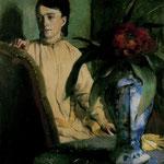 Mujer con Jarron de Porcelana