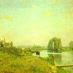 L'Ile Saint-Denis - c.1872 - Olio su tela