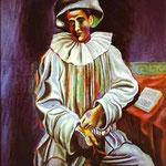 Pierrot - 1918 - Olio su tela