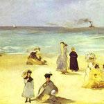 Edouard Manet - Spiaggia a Boulogne-sur-Mer - 1869 - Olio su tela