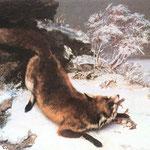 La volpe nella neve -1860