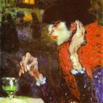 Il bevitore - 1901 - Olio