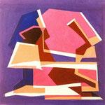Q.R. Composizione in rosso , 1934, olio su tela, cm 15x15.