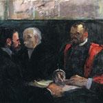 Un esame presso la Facoltà di Medicina - 1901 - Olio su tela